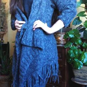 Handmade Oversized Cardigan Long Do..